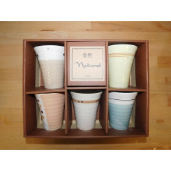 Coffret 5 tasses assorties Natural