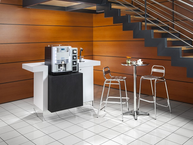 Mise en situation du Corner Coffee Bar en entreprise