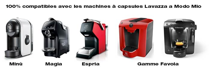 Machines compatibles Lavazza a Modo Mio